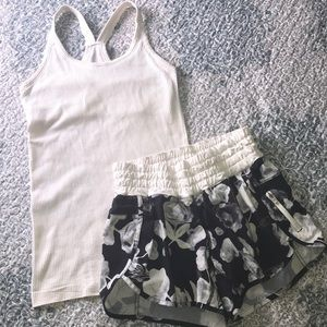 Lululemon Workout Top and Shorts